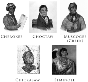 Portraits of the 5 Civilized Tribes