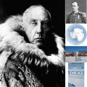 Roald Amundsen Antarctic collage